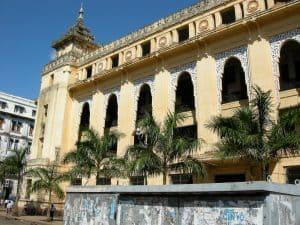 colonial building in Myanmar