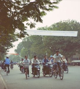 cycling the streets of Phnom Penh
