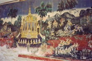 mural painting at the National Museum of Cambodia