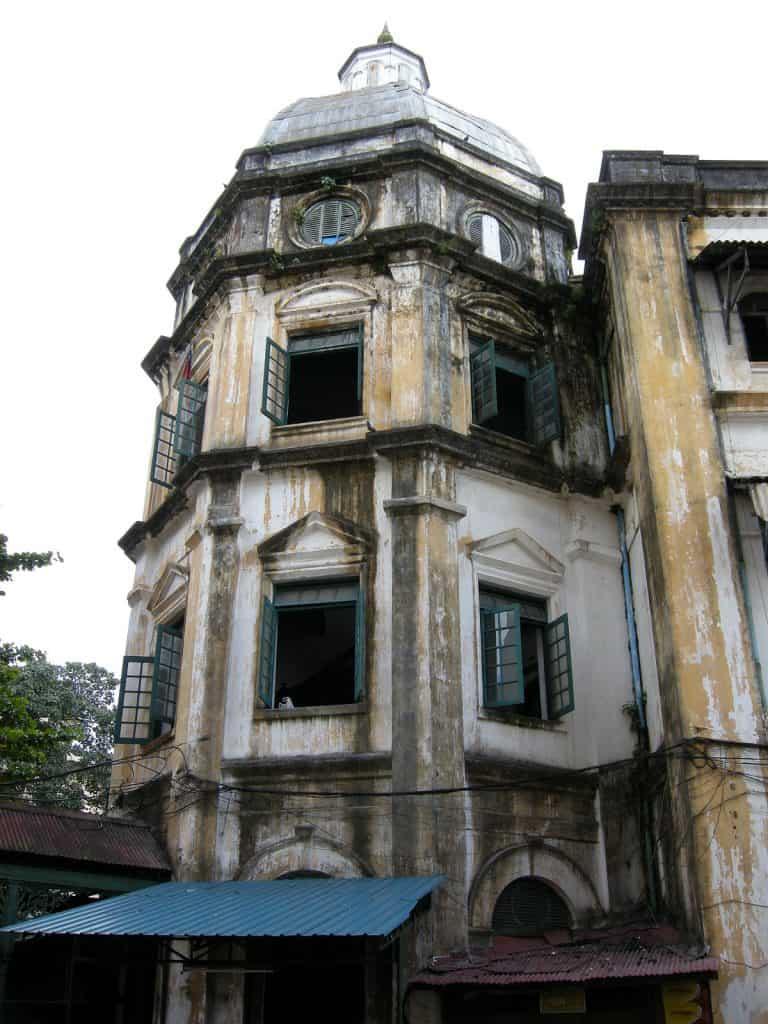 apartment block in Myanmar desperately needing some paint