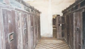 prison cells as proof of dark history of Cambodia