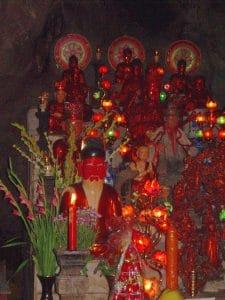 inside a sacred cave