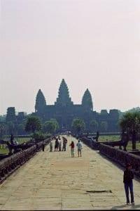 Angkor Wat bridge to main entrance