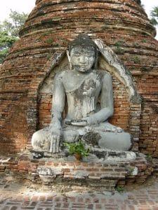 Inwa ancient Buddha statue