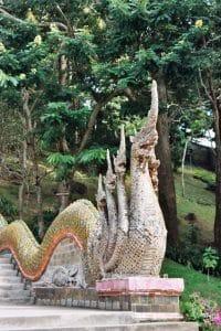 Naga at entrance stairs Doi Suthep