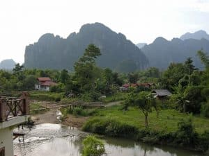 Vang Vieng beautiful countryside