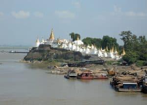 Royal Cities around Mandalay: Sagaing hillside temple