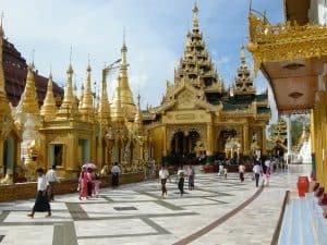 Shwedagon temple site Yangon