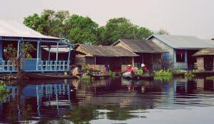 local life at village on Tonle Sap lake