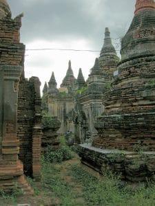 ancient temple ruin in Ava