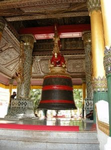 bronze bell at Shwedagon Yangon