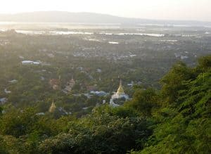 city overview from Mandalay Hill