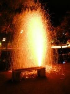 firework near Chiang Mai moat