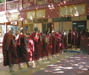 food distribution at monastery