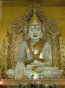 giant marble Buddha in Mandalay
