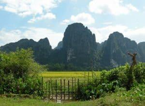 karst hills around Vang Vieng