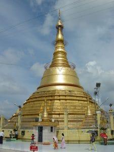 Buddhist initiation at Shwedagon pagoda