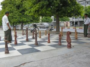 playing chess on the streets of Mandaly