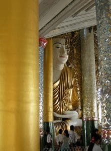 massive seated Buddha at Shwedagon