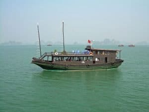 tourist sailing boat at Ha Long Bay