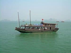 tourist sailing boat at Ha Long Bay