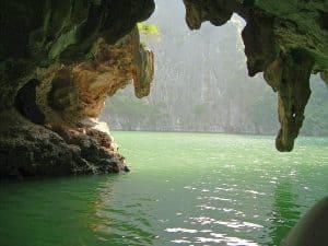 beautiful scenery on a boat trip near Cat Ba Island