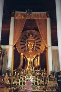 golden Buddha image in Chiang Mai