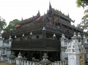 wooden monastery in Mandalay