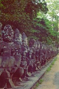 Angkor Wat temple guardians