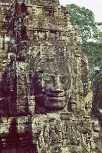 Bayon Budha image at Angkor Archeological Park