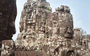 Bayon laughing Buddhas at Angkor Wat