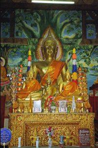 Buddha inside Wat Tham Chomsi at Luang Prabang