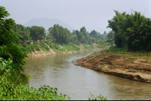 view of Nam Ka river in Luang Prabang