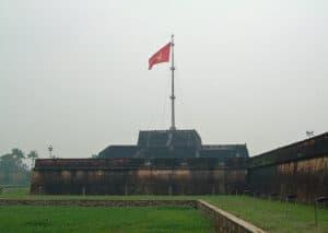 flag at The Citadel in Hue