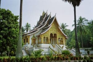 Wat Haw Pha Bang temple at Luang Prabang