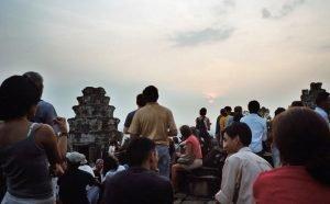 cloudy sunset at Angkor Wat