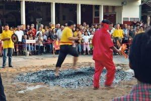temple ritual in rural Lampang