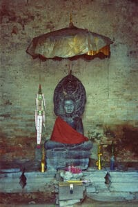 Buddha statue at Pre Rup temple in Angkor Park