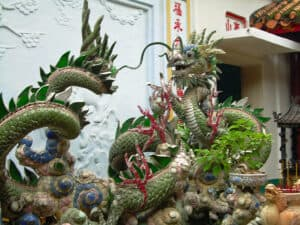dragon at Assembly Hall of the Fujian Chinese Congregation in Hoi An