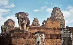 elephant statue of East Mebon temple at Angkor Park