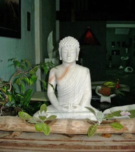 marble Buddha statue at Museum of Folklore in Hoi An