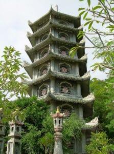 pagoda at Marble Mountains in Da Nang