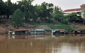 traditional houseboats of Phitsanulok
