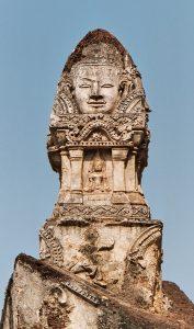 Buddha head at Wat Phra Si_Rattana Mahathat_in Chaliang