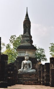 Buddha statue in northern part of Sukhothai historical site