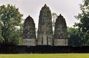 Khmer-like temple ruin at western part of Sukhothai main site