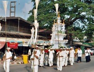Loy Krathong procession Sukhothai