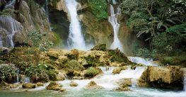 Wonderful nature at the Kuang Si waterfalls