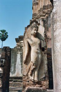 Wat Mahathat Buddha sculpture at Si Satchanalai