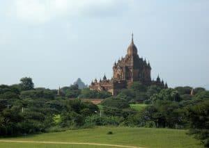 distant view of Gawdawpalin temple Bagan